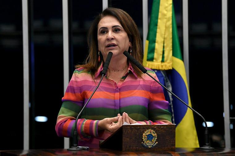 Kátia Abreu chamou atenção para as falas do presidente