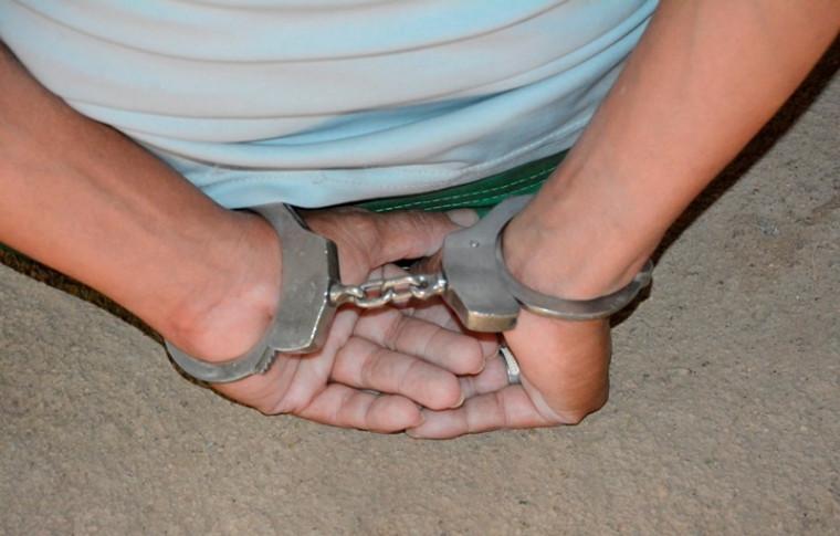 O suspeito foi preso numa fazenda