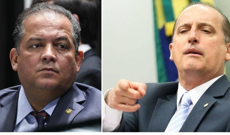 Senador Eduardo Gomes e Onyx, ministro da Casa Civil