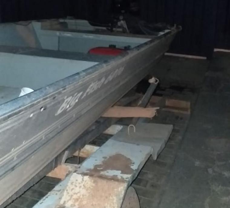 Barco tinha sido furtado em Araguacema (TO)