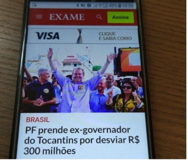 Revista Exame põe foto errada na matéria da prisão de Miranda