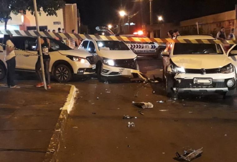 O ladrão foi preso após sofrer acidente