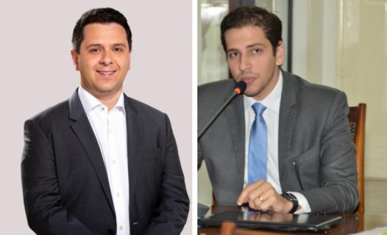 Tiago Dimas (esq.) e Olyntho Neto