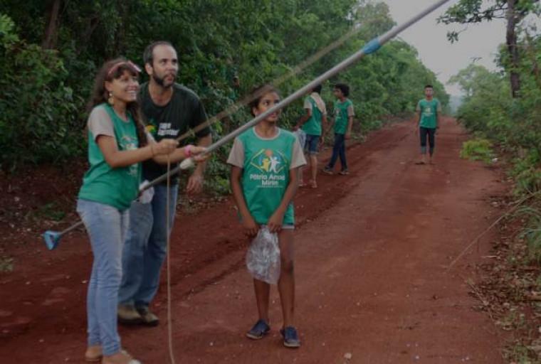 Aula de campo com alunos da Escola Estadual Entre Rios
