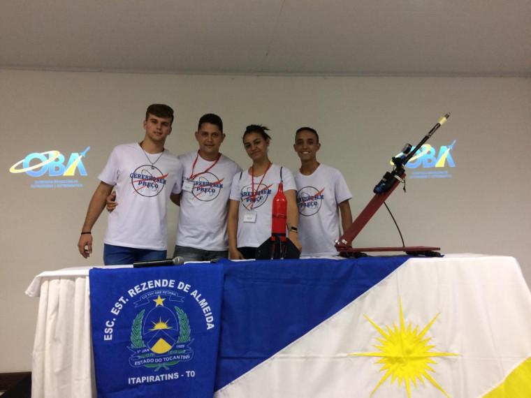 Equipe vencedora da 13ª Edição da Mostra Brasileira de Foguetes, realizada durante a Jornada de Foguetes 2019
