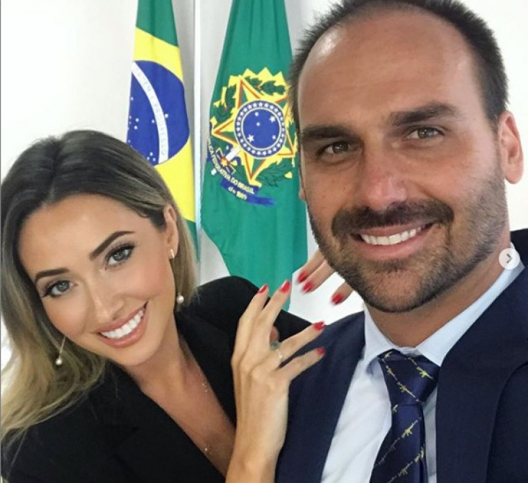 Heloísa é casa com Eduardo Bolsonaro