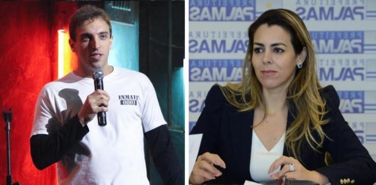 Leo Lins e Cinthia Ribeiro
