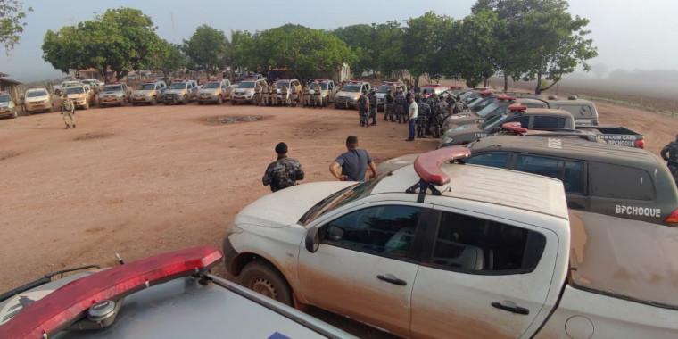 A operação contou com a participação de mais de 200 policias do Tocantins, Pará e Goias