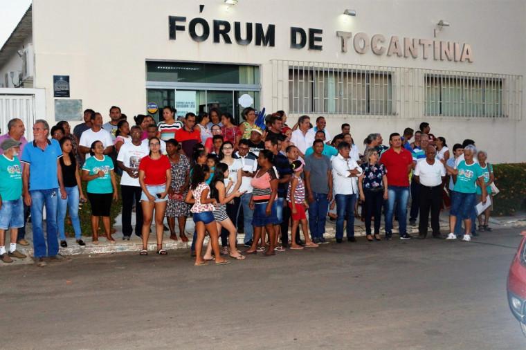 Protesto de moradores em Tocantínia contra a extinção da Comarca