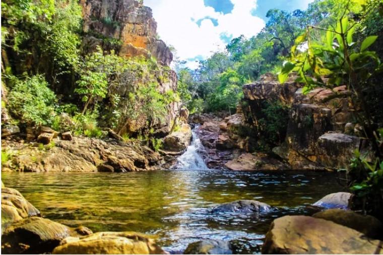 Cachoeira do Paraíso, em Natividade