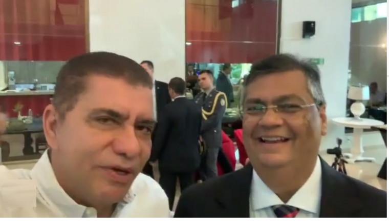 Amastha e Flávio Dino em Palmas