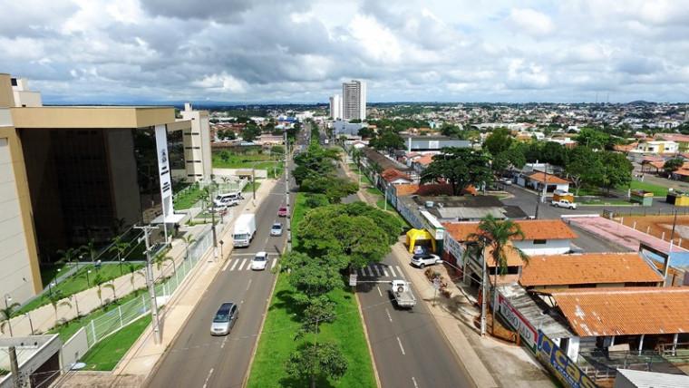 Vista da Avenida Filadélfia em Araguaína