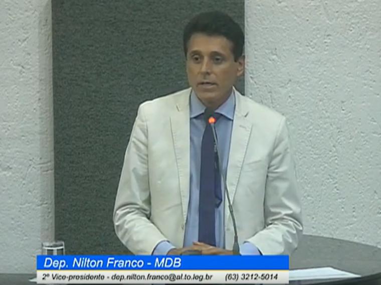 Nilton Franco foi um dos que defendeu a liberdade do ex-governador e colega de partido