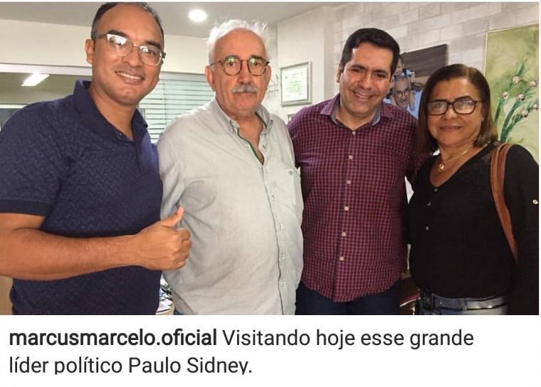 Marcus Marcelo visita Paulo Sidnei