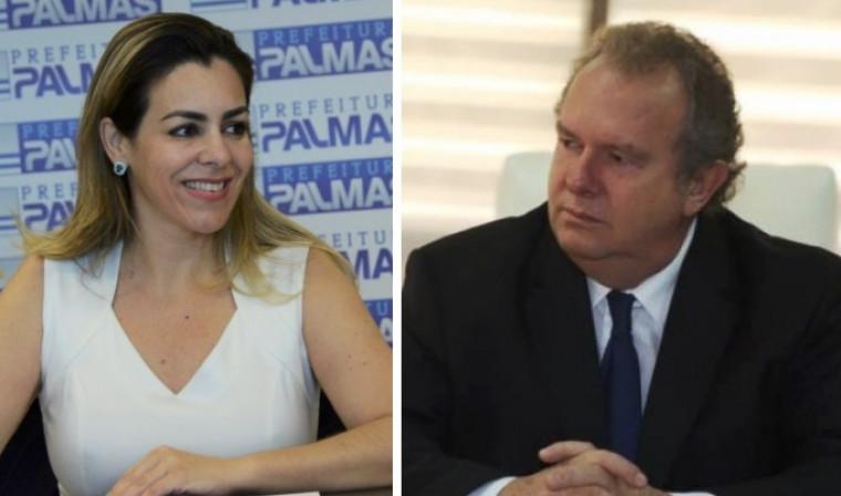 Prefeita de Palmas (esq.) e governador do Tocantins