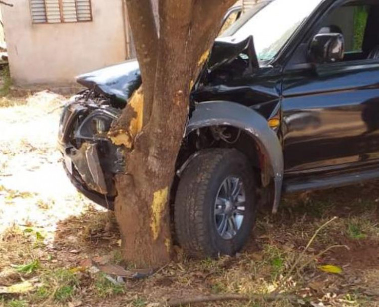 Veículo colidiu numa árvore