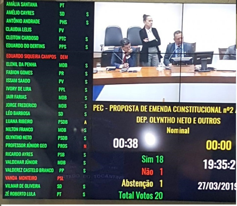 PEC foi aprovada por 18 votos