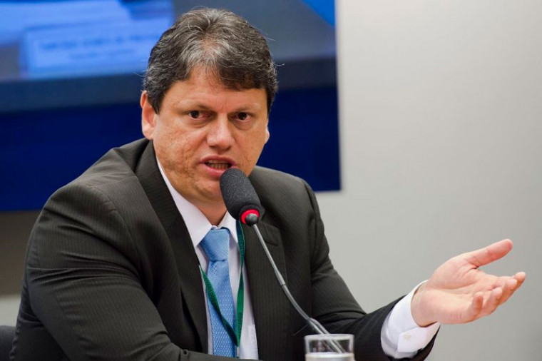 Ministro da Infraestrutura, Tarcísio Freitas