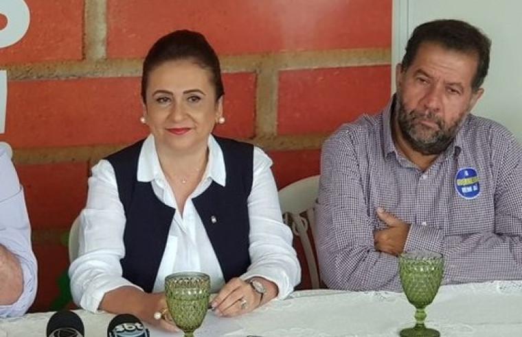 Kátia Abreu e Carlos Lupi, presidente nacional do PDT