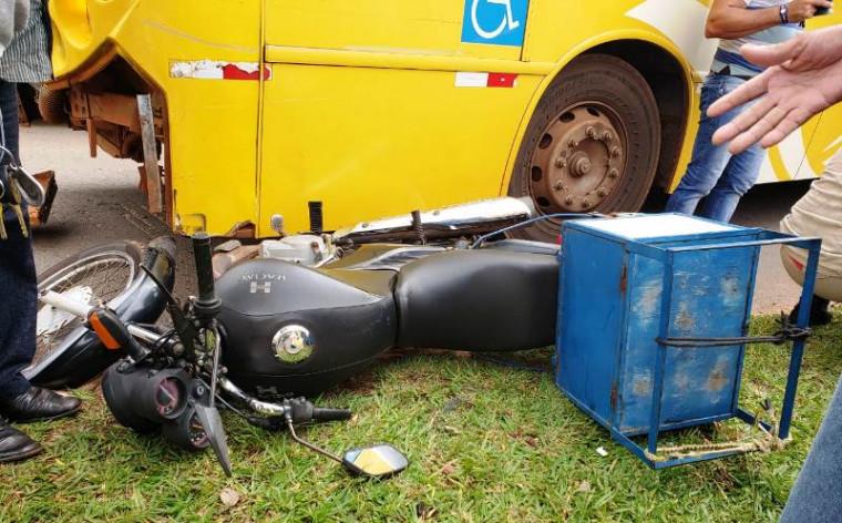 O motociclista foi encaminhado ao Regional de Araguaína