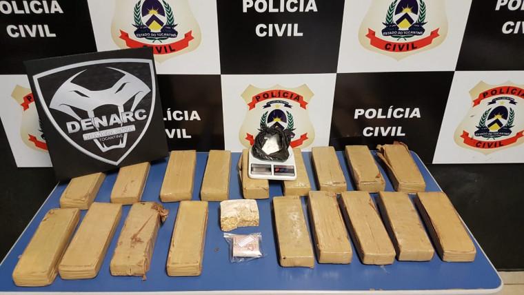 Mais de 30 kg de drogas estavam a caminho de Araguaína