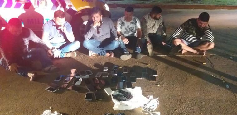 Os integrantes da quadrilha foram presos quando se preparavam para deixar a cidade