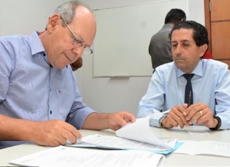 Dimas e o chefe do Ministério Público do Tocantins