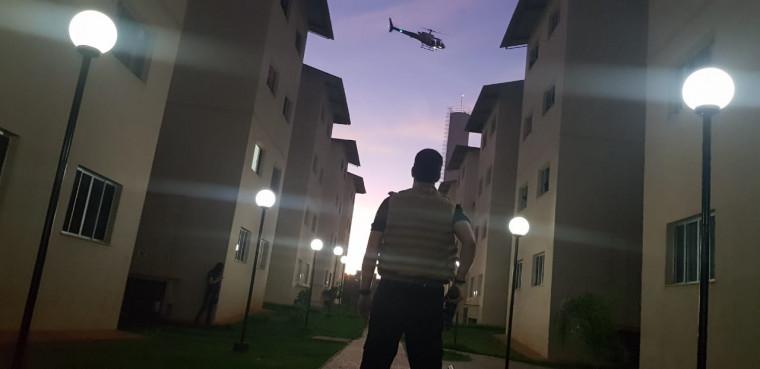 Helicóptero colaborou na operação