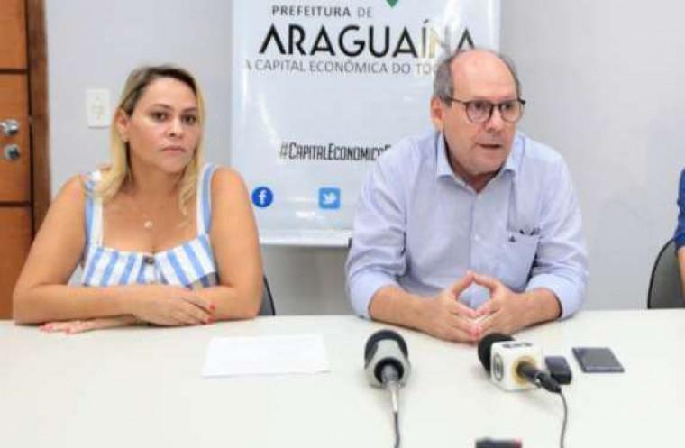 Ronaldo Dimas e a nova secretária da Saúde, Ana Paula