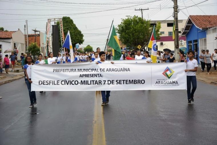 Desfile em Araguaína