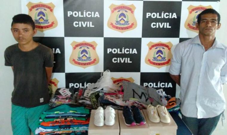 Suspeitos presos e objetos recuperados