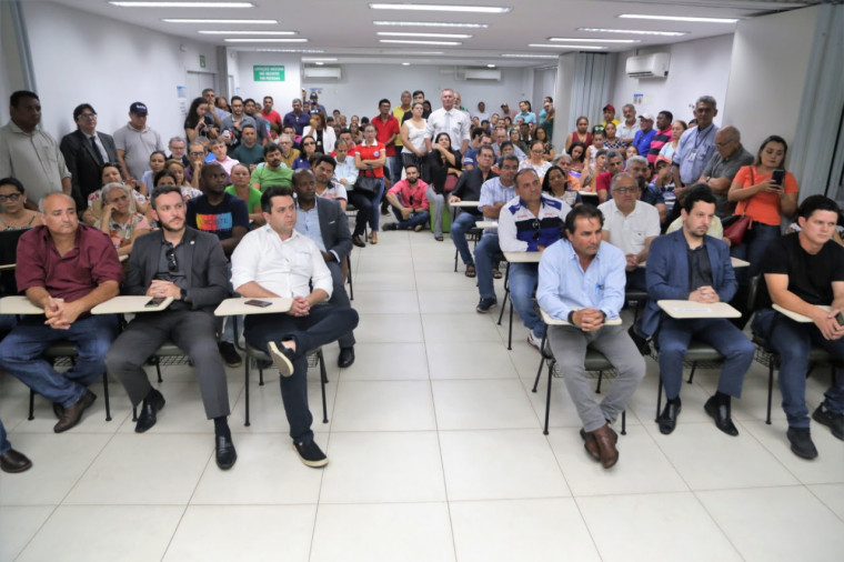 Audiência pública no auditório do Sebrae para apresentar o Trecho 1 da Via Norte