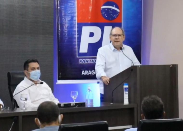 Dimas na convenção do PL de Marcus Marcelo