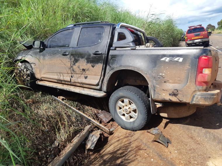 Camionete envolvida no acidente
