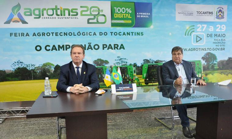 Mauro Carlesse lançou, via redes sociais, nesta terça a edição digital da Feira