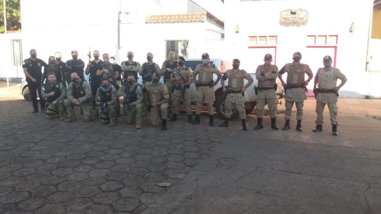 Forças policiais envolvidas na operação