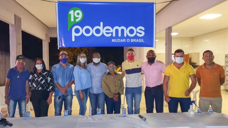 Reunião do Podemos em Babaçulândia com a presença de vários líderes