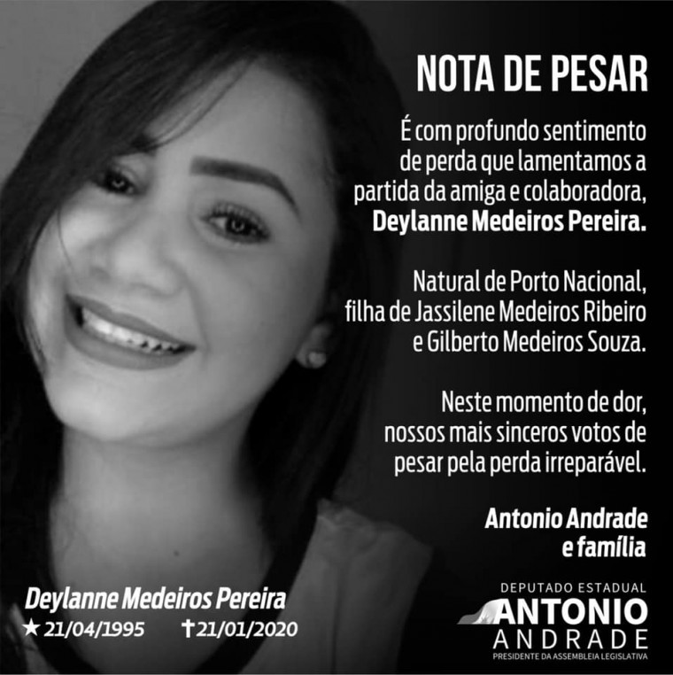O presidente da AL, Antônio Andrade divulgou nota de pesar pelo falecimento da portuense