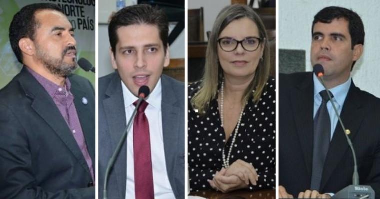 Vice-governador, Olyntho, Cláudia Lélis e Ricardo Ayres, da esq. para dir.