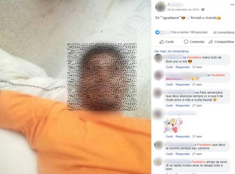 Detento utilizando as redes sociais de dentro de presídio