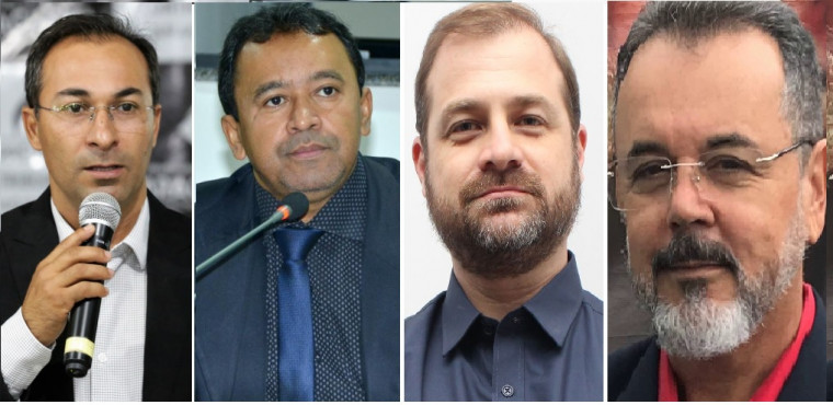 Wagner (SD), Elenil (MDB), Hugo Mendes (PRTB) e Leador (PT)