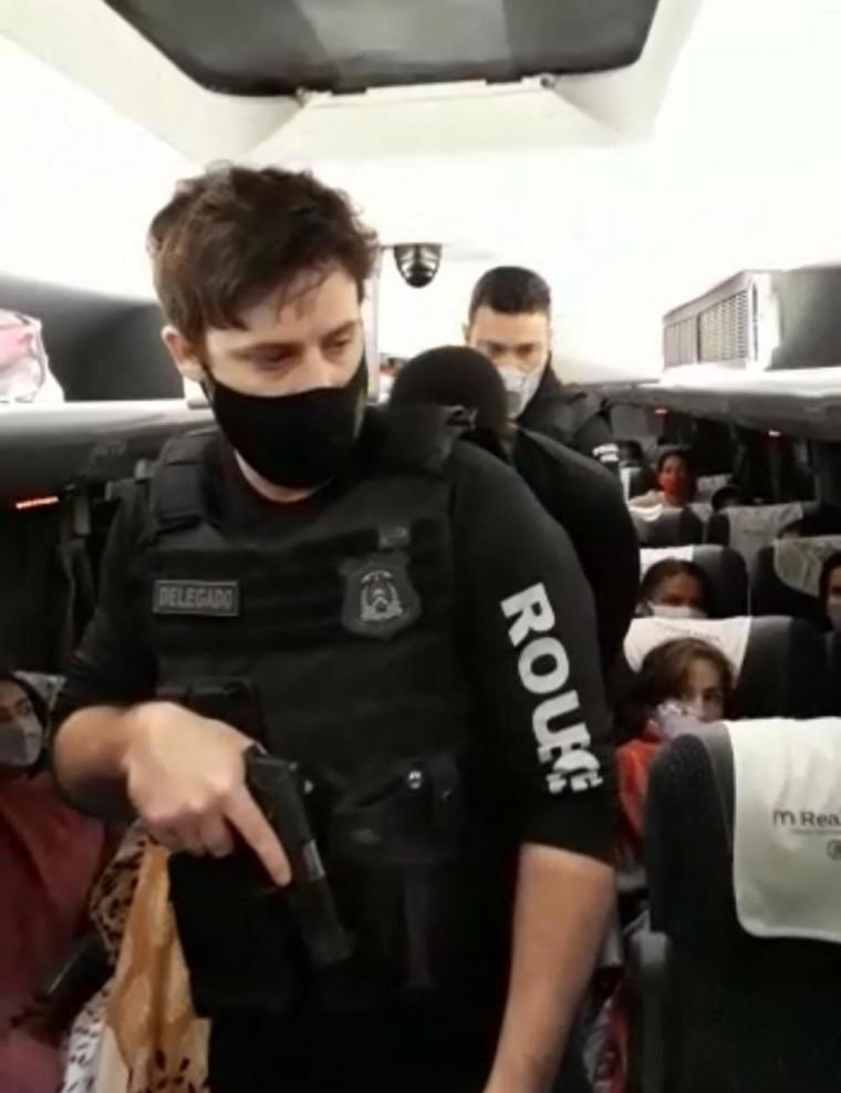 O assaltante estava dentro de um ônibus vindo do Maranhão
