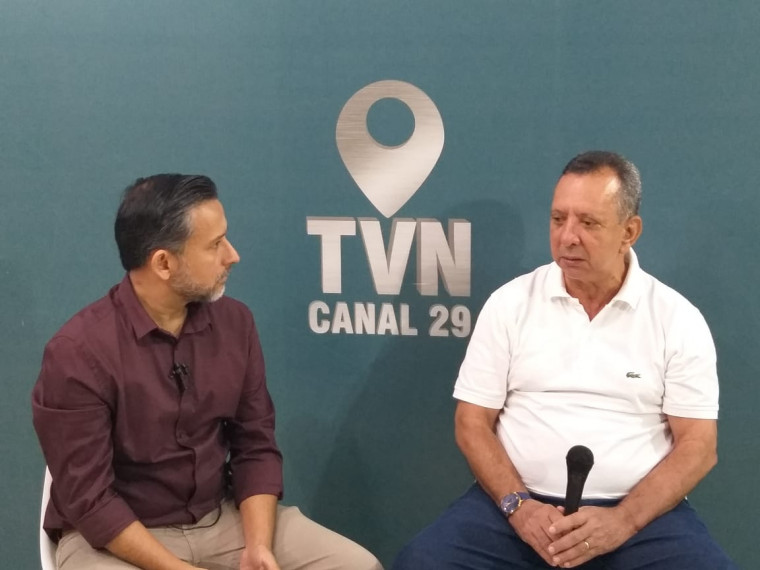 Antônio Andrade, presidente da AL-TO, durante entrevista na TVN