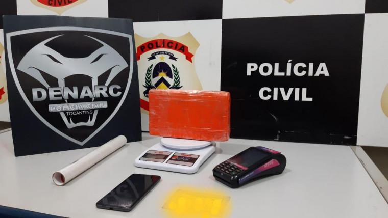 Objetos apreendidos na residência da traficante em Palmas