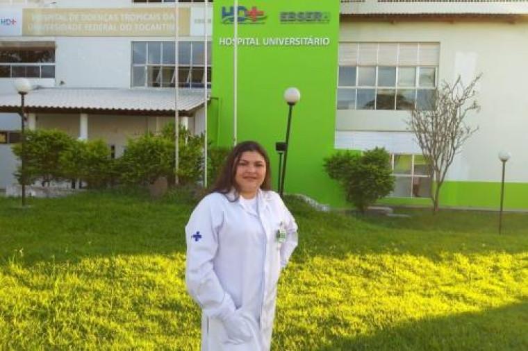 Jarina Araujo de Sousa trabalha no HDT em Araguaína