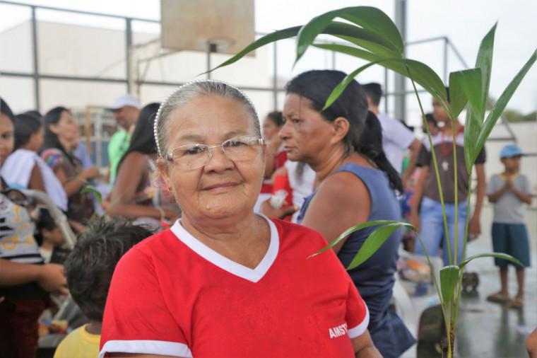 """""""Vamos conservar a natureza, é uma vida"""", afirmou dona Rosilda Machado, moradora do Araguaína Sul"""