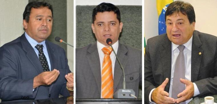 Elenil (esq.) Jorge Frederico (centro) e César Halum