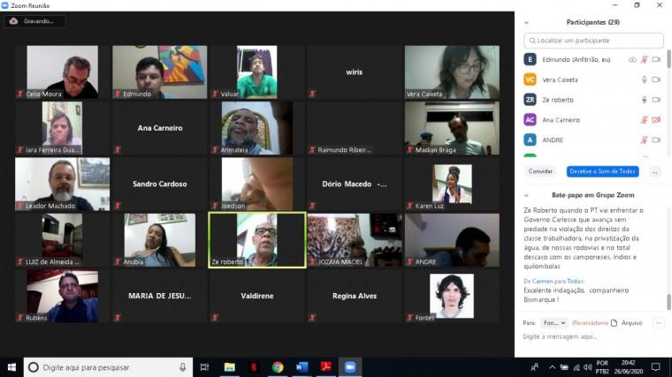 Reunião virtual do Diretório Petista em Araguaína