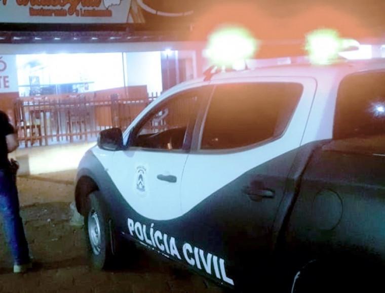 Polícia Civil durante fiscalização em Paraíso do Tocantins