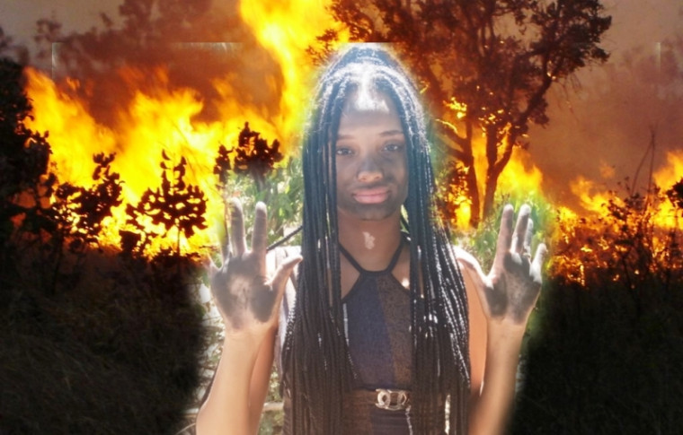 Fotomontagem chama atenção para as consequências das queimadas